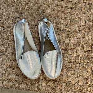 Shoes - Silver Espadrilles size 8